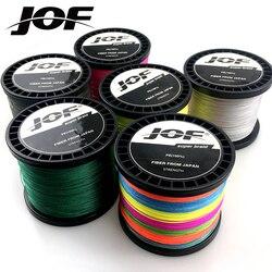 JOF żyłka 8 nici karpia wędkowanie 1000m 100% PE przewód Pesca 6 kolorów plecionka Peche silne 22 78LB drut wędkarski|Żyłki wędkarskie|   -