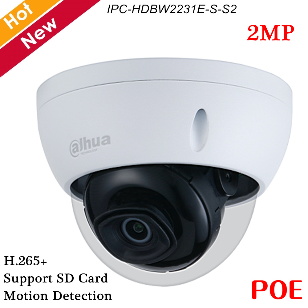 <font><b>Dahua</b></font> <font><b>2MP</b></font> POE <font><b>IP</b></font> <font><b>Camera</b></font> Support Motion detection,H.265+ WDR <font><b>IP</b></font> Security Dome <font><b>Camera</b></font> Outdoor IP67 Indoor Outdoor ONVIF image