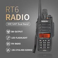 vhf uhf נגד אבק Waterproof ווקי טוקי IP67 Retevis RT6 Dual-Band 5/3 / 1W VHF + UHF 136-174Mhz + 400-520Mhz FM רדיו שני הדרך רדיו A9114A (2)