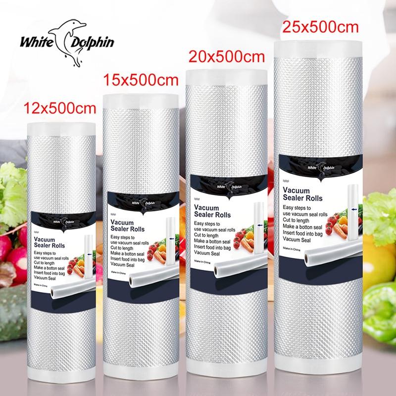 Home Kitchen Food Vacuum Sealer Bags  12 15 20 25x500cm Film Container Food Sealer Saver Bags Vacuum Packing Machine