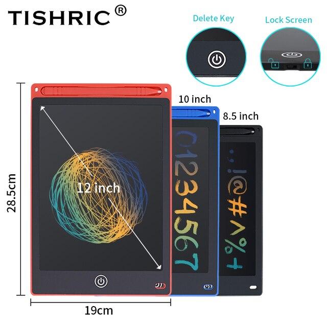 Tableta de escritura inteligente LCD TISHRIC de 8,5 pulgadas/9 pulgadas/10 pulgadas/12 pulgadas, tableta gráfica para dibujar, tabla de dibujo de Graffiti para niños
