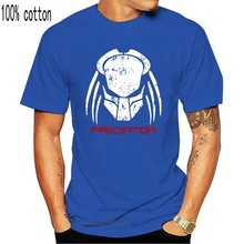 2018 nuevo Casual de manga corta depredador cara camiseta jungla alienígena Hunter película inspirado parodia Tee Top venta 100% algodón T Shirt