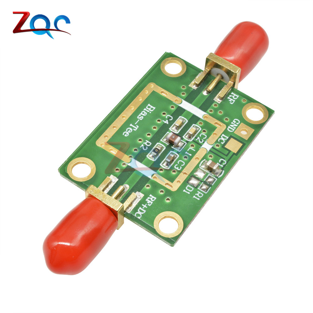 Bias Tee Wideband Frequency 10MHz -6GHz RF DC blocker for HAM radio RTL SDR LNA Low Noise Ham Radio Amplifier 10-6000 MHz image