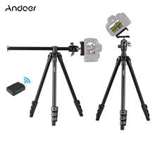 Portable Camera Tripod with Panorama Ball Head Phone Holder Remote Control for DSLR Smartphones Compatible with Canon Nikon Sony