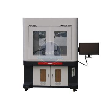 Acctek niska cena maszyna do znakowania laserowego wysoka jakość cnc maszyna do znakowania laserem światłowodowym cena AK6090F tanie i dobre opinie Nowy Raycus EZCAD 20W 30w 50w(Optional) 600*900mm