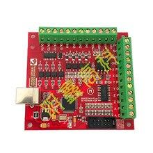 Versão atualizada 4-axis cnc cartão de controle de movimento mach3 placa de interface da máquina de gravura interface usb com cabo