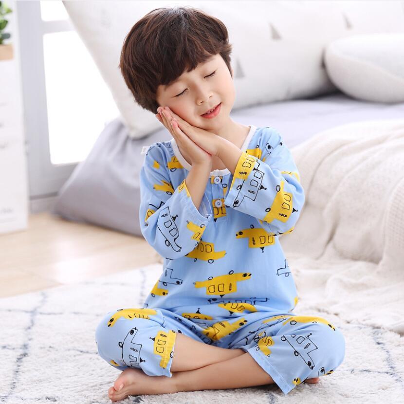 Baby Boys Girls Summer Pure Cotton Sleepwear 1-13T Kids Homewear Children Thin Conformtable Pyjamas Cartton Cute Kid Clothes
