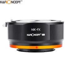 K & f conceito NIK FX nikon f ai lente para fuji x câmera adaptador de montagem anel para nikon ai af lente para câmera fujifilm