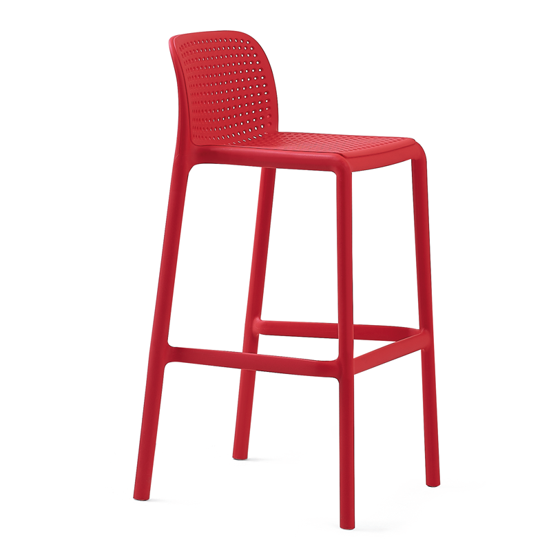 Nordic Minimalist Designer Plastic Bar Chair Personality High Bar Stool Stacked Creative Fashion Casual Bar Chair