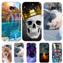 For Samsung Galaxy A5 2017 Case Silicone Cover For Samsung A5 2017 Case Cute Cat Dog Funda For Samsung A5 2017 A520F Phone Cases samsung galaxy a5 2017 черный