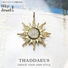 Pendentif Sun CZ Pave, bijoux en argent Sterling 2019, nouvelle mode hiver 925, accessoires de Style européen, cadeau pour hommes et femmes