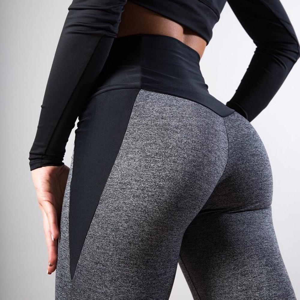 Fashion Patchwork Women Leggings Women's Casual Workout Leggings Fitness Sports Running Athletic Pants Silm Jeggings Leggins