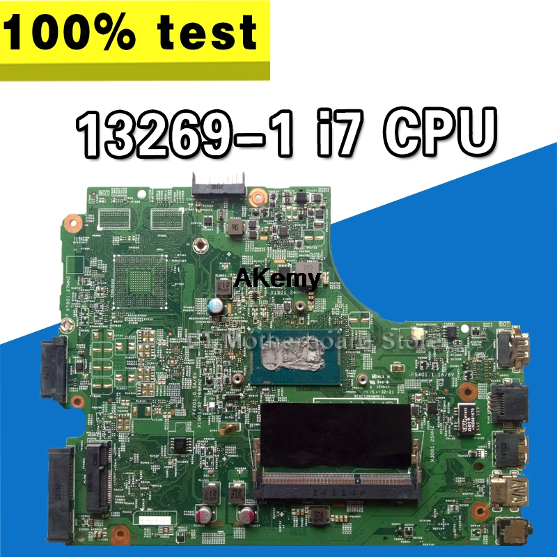 13269-1 For DELL 3542 DELL 3442 Dell 3543 5749 3443 Motherboard 13269-1 PWB FX3MC REV A00 Motherboard I7 GM Work 100%