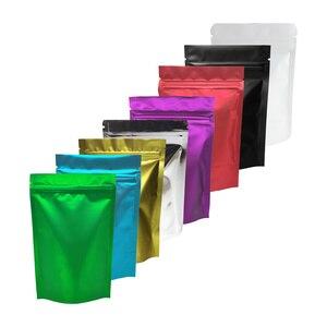 Image 1 - Plastic Bag  Metallic Mylar ziplock bag  stand valve bag resealable aluminum foil custom print ziplock bag