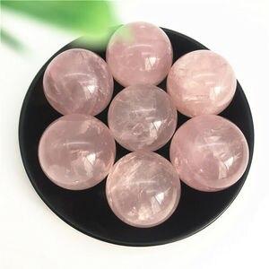 1 шт. 36-41 мм Натуральная Розовая кварцевая Сфера розовый хрустальный шар Сфера Рейки Исцеление украшения натуральные камни и минералы