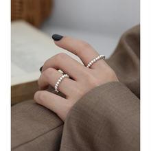 Minimalit 990 стерлинговые Серебряные бусы кольца для женщин