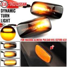 רכב Led דינמי הפעל אות אור סמן צד פגוש מנורת חיווי עבור ניסאן מקסימה Almera Pulsar N15 Cefiro A32 1995 2000