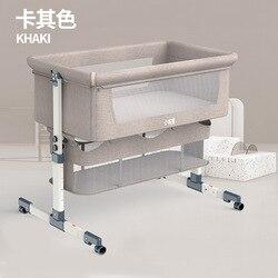 Berceau amovible Portable pliable haut et bas réglage couture grand lit de chevet bébé ascenseur