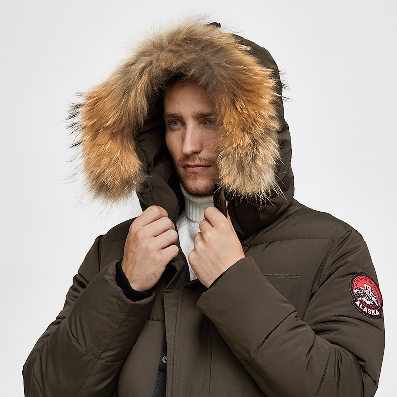 Image 5 - TIGER FORCE Alaska Jacket Men Winter Jacket Parka Men Alaska Coat Detachable Hooded Men'S Winter Coat Artificial Fur Thicken-in Parkas from Men's Clothing