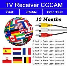 Teste gratuito para 8 linha ccam lineis compatível com receptor de tv por satélite alto-falante na europa, espanha, polônia, alemanha e portugal