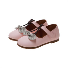Princess Bow Kids Leather Shoes For Little Girls Dress Wedding Dancing Shose 2019 Children Flat Shoes Baby 1 2 3 4 5 6 Year Old