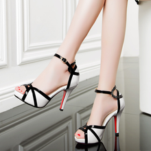 High heels sandals women  2019 summer new leather sandals stiletto with color matching fish mouth open toe ladies shoes цена 2017