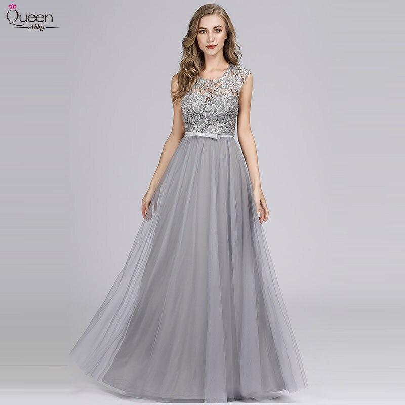 Longue robe De demoiselle d'honneur en dentelle