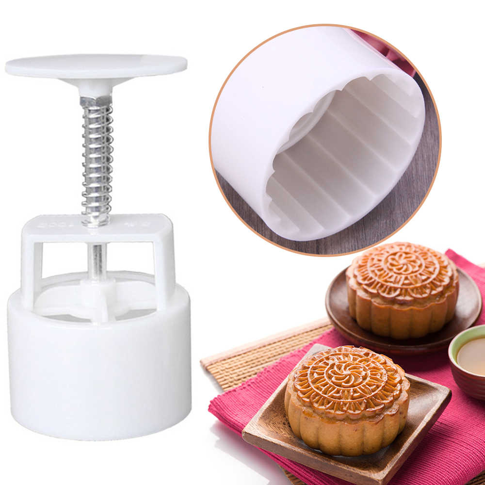 Cookie CUTTER Hand Pressure 3D Biscuits Fondant MoonCake Mould Pastry Bake Tool