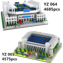 The Great Football Stadium Field Gym Model Building Blocks mirco size Architecture Spain England Soccer Club Gymnasium