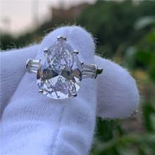 PROMISE แหวน Pear CUT 8ct AAAAA CZ 925 (China)