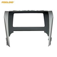 FEELDO Car Radio Audio Stereo 2DIN Fascia Frame For Toyota Camry 2012 Dash Panel Installation Trim Kit #HQ4900