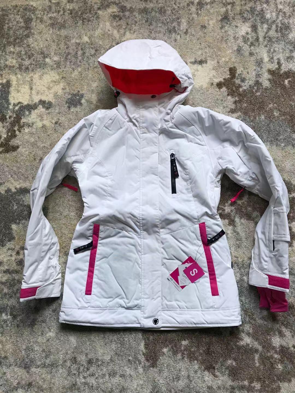 Новое поступление, куртки для сноуборда bluemagic, женский лыжный костюм, зимние уличные Водонепроницаемые зимние костюмы, женская одежда, тонкое пальто, дышащая - Цвет: WHITE JKT