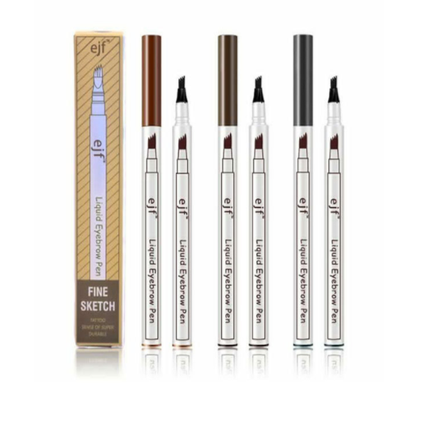 3 Colors 4 Head Eyebrow Marker Pencil Waterproof Microblading Eyebrow Thin Tattoo Pen Eyebrows Shades Makeup Eye Brow Pencil 3