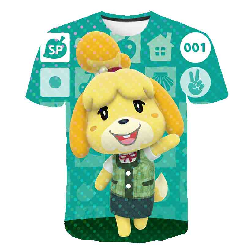 2020 New summer Cartoon game Animal Crossing 3D Printed Children T-shirt Cute <font><b>Dogs</b></font> Fashion Baby Kids Boys Girls Harajuku T shirt image