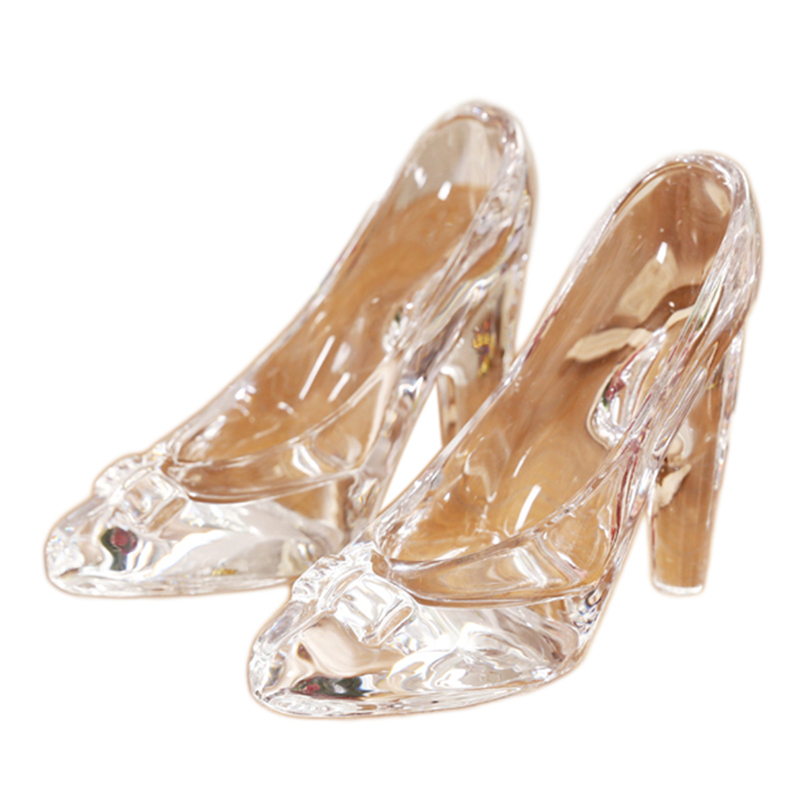 Personality Customized 1PC Lead-free Glass Crystal High Heel Shoes Home Decor Accessory Cinderella Crystal Shoes Wedding Gifts