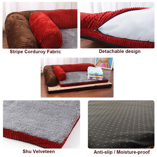 Luxury Large Dog Bed Sofa Dog Cat Pet Cushion Mat For Big Dogs   5