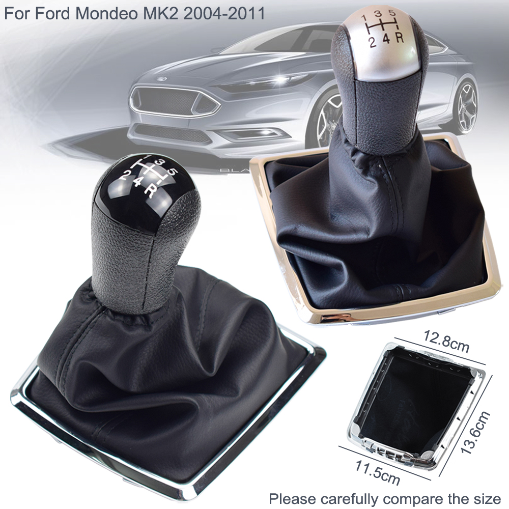 Gaiter Boot Cover For Ford Focus MK2 05-08 5 Speed PU Leather Gear Shift Knob