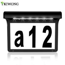 Табличка с номером на солнечной батарее для дома, уличные водонепроницаемые адресные номера с светильник пой на солнечной батарее для двери, забора, почтовый ящик
