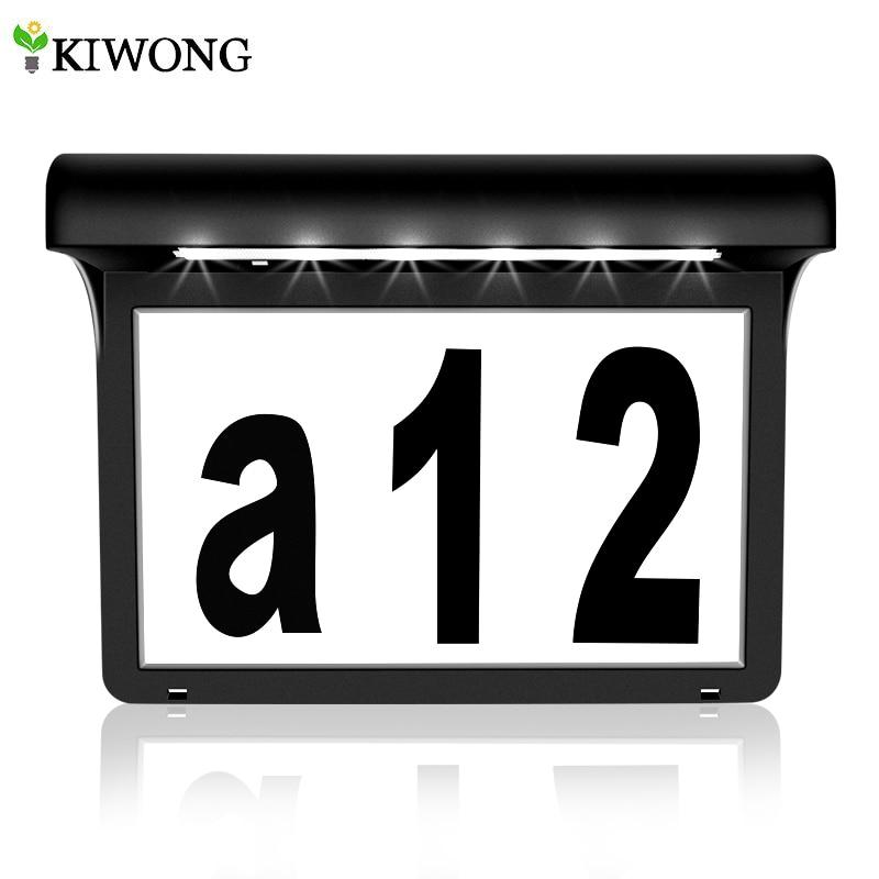 Números de endereço da placa do número da casa solar para casas com luz solar ao ar livre à prova dwaterproof água da lâmpada para a caixa de correio da cerca da porta