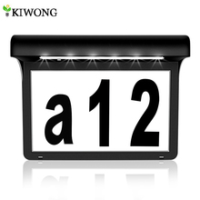 Solar House Number Plaque Address Numbers for Houses with Solar Light Outdoor Waterproof Lamp Numbers for Door Fence Mailbox