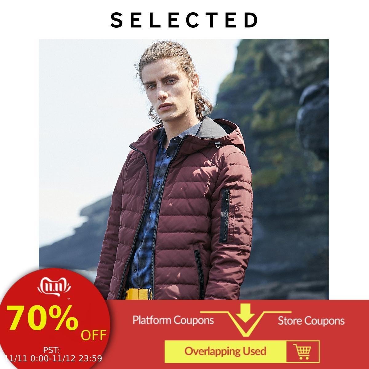 SELECTED Men's Winter Hooded Duck Down Coat New Male Jacket Outwear S | 419312503