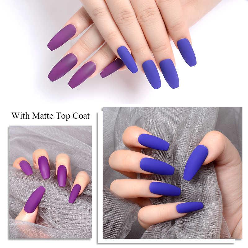 Mtssii Reine Farbe UV LED Matte Nagel Gel Polish Primer Matte Top Basis Mantel Nägel Gel Lack Semi Permanent Nagel kunst Maniküre Gel