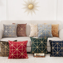 Velvet Pillowcase Cushion-Cover Living-Room Luxury-Style Embroidery Sofa Throw Home-Decoration