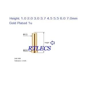 Image 5 - 100 pces pogo pino fêmea contato 3.7 4.5 5.5 6.0 7.0mm altura smt montagem em superfície pcb fêmea encabeçamento pwb companheiro mola carga pogo pino