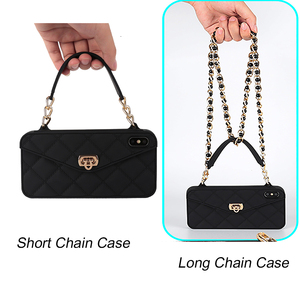 Image 5 - Wallet Case For iPhone 12 Mini 11 Pro Max SE 2020 XR X 10 8 7 6s 6 Plus XS Max Soft Silicon Handbag Purse Phone Cover Long Chain