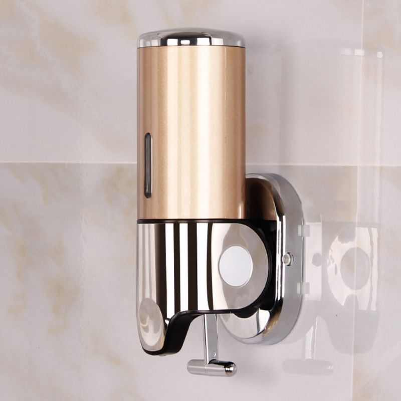Bathroom Kitchen Liquid Soap Dispenser Wall Mounted Shampoo Shower Gel Container