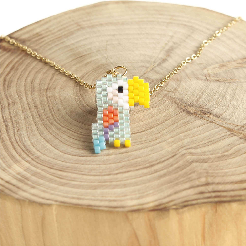 Go2boho Delica MIYUKI Necklace 2019 Parrot Necklaces Women Toucan Choker Girl Jewelry Gold Stainless Steel Chain Bijoux Handmade in Chain Necklaces from Jewelry Accessories