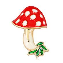 3PC/Set Fashion Enamel Red Mushroom Brooches Cute Gift For Women Kids Green Leaves Brooch Pin Accessories Jewelry Gifts frogs brooches for women accessories green enamel pin metal animal enamel rhinestone brooch cute kids pin fashion karl jewelry