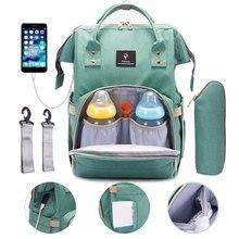 Сумка для детских подгузников с интерфейсом USB Большой Вместительный рюкзак для путешествий сумка для кормления водонепроницаемый Набор сумок для подгузников для мам рюкзак для мамы