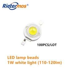 1 w de alta potência lâmpada led grânulo 110-120lm imitação lâmpada lumen grânulo 350ma luz branca lâmpada de alta potência